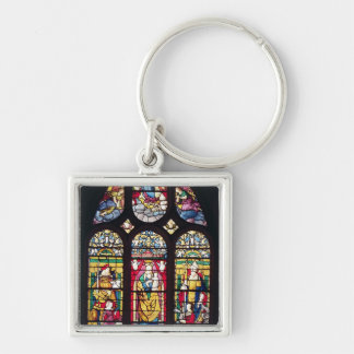 Window depicting the Virgin and Child Keychain