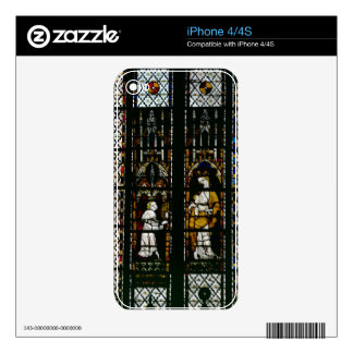 Window depicting the Virgin and Raoul de Ferrieres Skin For The iPhone 4S