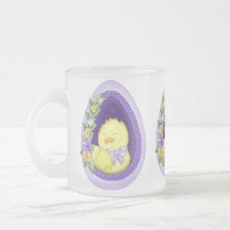 Window Egg Frosted Glass Coffee Mug