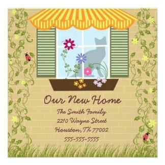Window Flower Box Moving Personalized Invitation