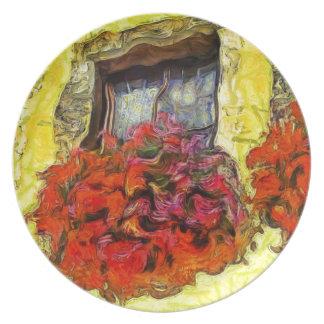 Window Flower Boxes in Michelstadt Germany KPA Melamine Plate