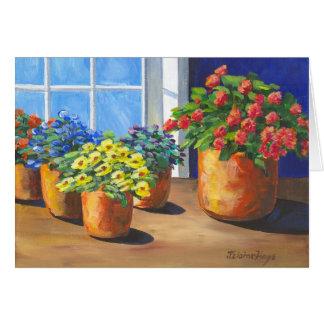 Window Flower Pots Card
