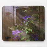 Window flowers mouse pad