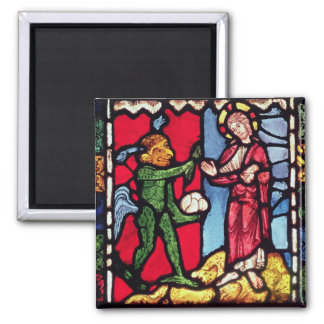 Window from Troyes Cathedral showing the Temptatio 2 Inch Square Magnet