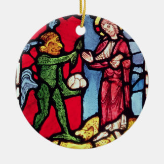 Window from Troyes Cathedral showing the Temptatio Christmas Ornament