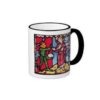 Window from Troyes Cathedral showing the Temptatio Ringer Mug