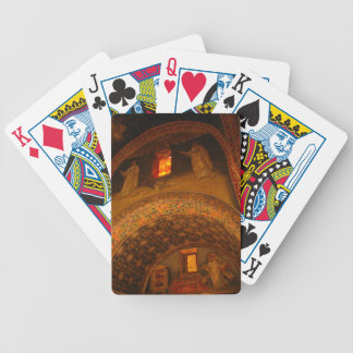 Window Gold Bicycle Playing Cards