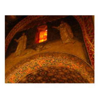 Window Gold Postcard