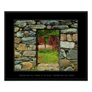 WINDOW HAY WINDOW The Old Stone Collection Poster