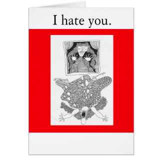 window, I hate you. Greeting Cards
