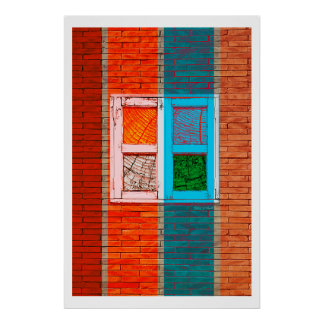 Window in color poster