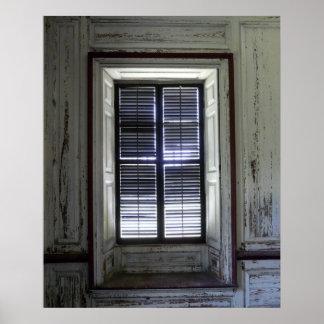 Window in Drayton Hall, Charleston Poster