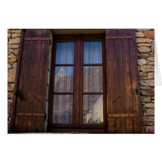 Window in French Countryside Greeting Card