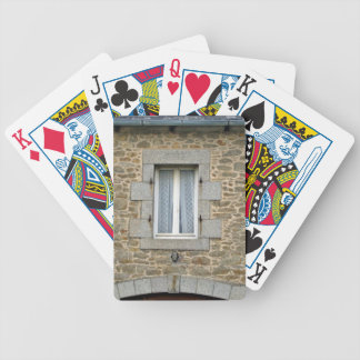 Window In Rough Stone Wall With Lace Curtains Bicycle Playing Cards