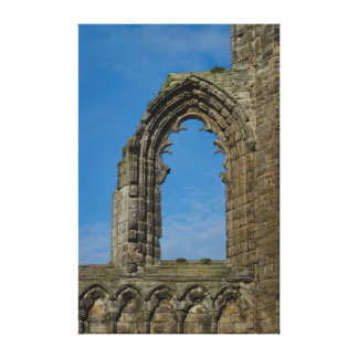 Window In St Andrews Cathedral Canvas Print