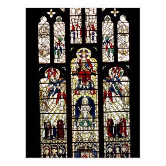 Window in Worcester Cathedral, 15th century Postcard