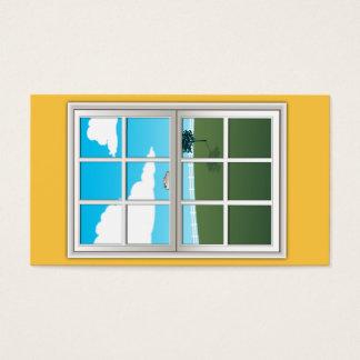 Window installation business card