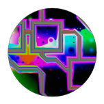 Window into the Universe, Abstract Magenta & Cyan Poker Chips Set