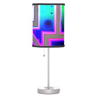 Window into the Universe, Abstract Magenta & Cyan Table Lamp