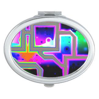 Window into the Universe, Abstract Magenta & Cyan Vanity Mirror