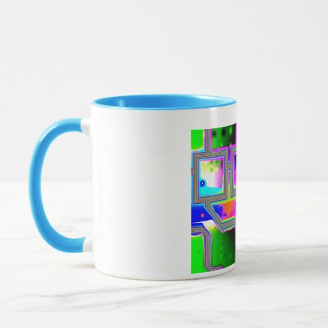 Window into the Universe– Magenta & Cyan Intersect Mug