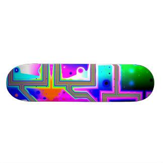 Window into the Universe– Magenta & Cyan Intersect Skateboard Deck