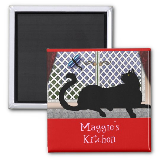 window kitty 2 inch square magnet