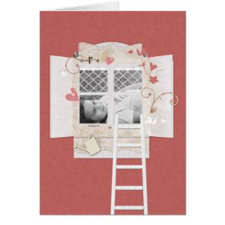 Window & Ladder Photo Frame Scrapbook Style Card