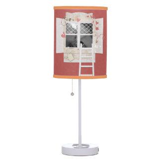 Window & Ladder Photo Frame Scrapbook Style Table Lamp