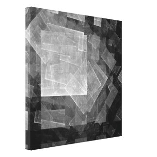 Window Light Abstract Art Black and White Canvas Print