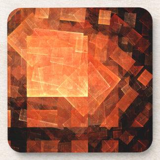 Window Light Abstract Art Cork Coaster