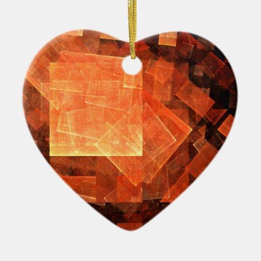 Window Light Abstract Art Heart Ornament