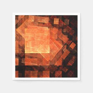 Window Light Abstract Art Paper Napkin
