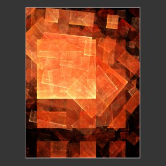 Window Light Abstract Art Postcard