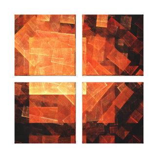 Window Light Abstract Art Quad Canvas Print