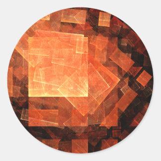 Window Light Abstract Art Round Sticker