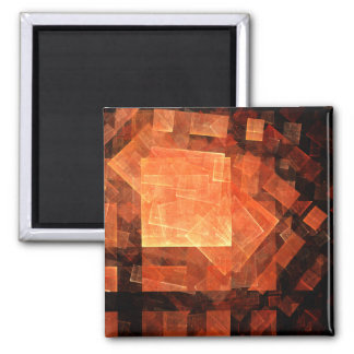 Window Light Abstract Art Square Magnet