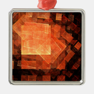 Window Light Abstract Art Square Metal Ornament