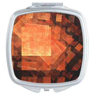 Window Light Abstract Art Square Mirror For Makeup
