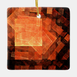 Window Light Abstract Art Square Ornament