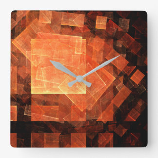 Window Light Abstract Art Square Square Wall Clock