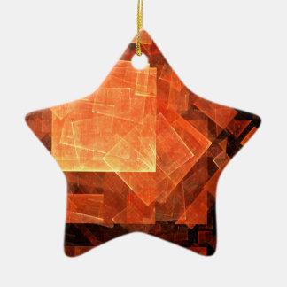 Window Light Abstract Art Star Ornament