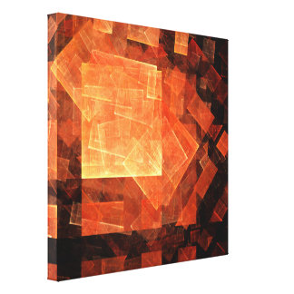 Window Light Abstract Art Wrapped Canvas Print