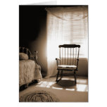 Window Light Room In Sepia Greeting Card