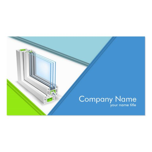 Window Manufacturing pany Business Card
