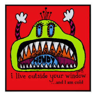 Window Monster Print