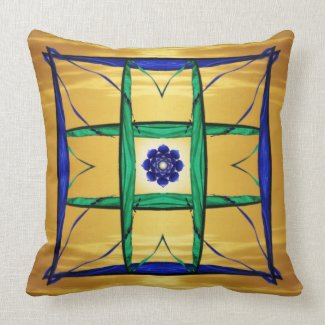 Window of Enlightenment Abstract Throw Pillow