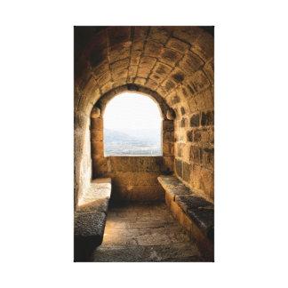 Window of Monterrey castle, Verin (Spain) Canvas Print
