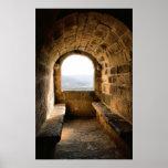 Window of Monterrey castle, Verin (Spain) Print