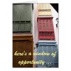 window of opportunity birthday card